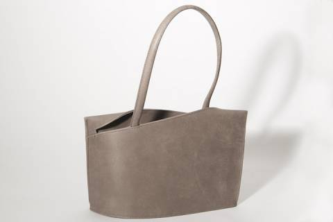 Wave / Medium Handbag - Nubukleder